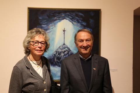 Albrecht Sellner korábbi polgármester és felesége Tatán